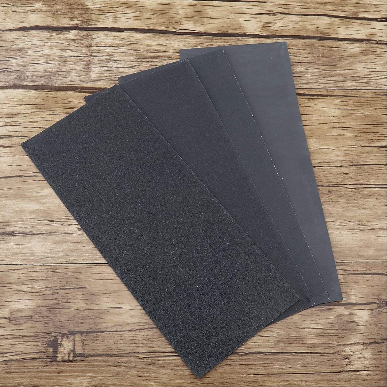 42 Pcs 120 to 3000 Grit Sandpaper Assortment Wet /& Dry 9 x 3.6 Inch