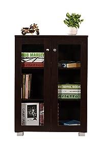 DeckUp Awana Engineered Wood Book Shelf/Display and Storage Unit (Dark Wenge, Matte Finish)
