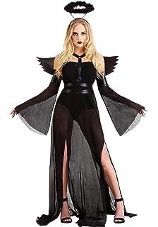 Amazon.com: Disfraz de corsé de ángel caído oscuro para ...
