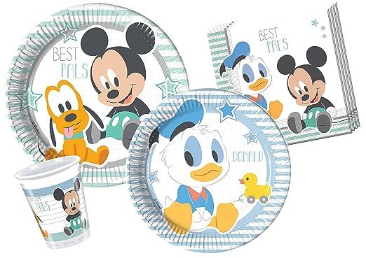 117 opinioni per Ciao Y4213- Kit Tavola Baby Mickey & Donald per 24 persone (112 pezzi: 24 piatti
