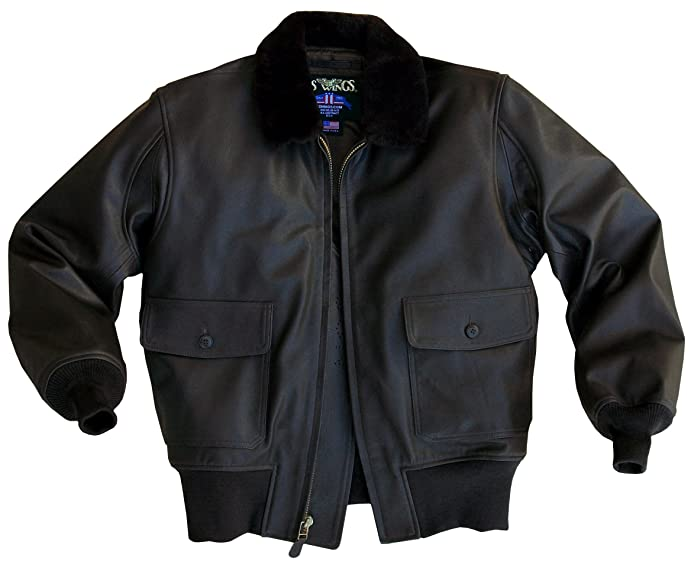 US Wings U.S. Navy Brown Goatskin G-1 Leather Bomber Jacket at ...