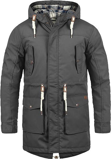 Solid Chara Herren Winterjacke Parka Mantel Lange Jacke