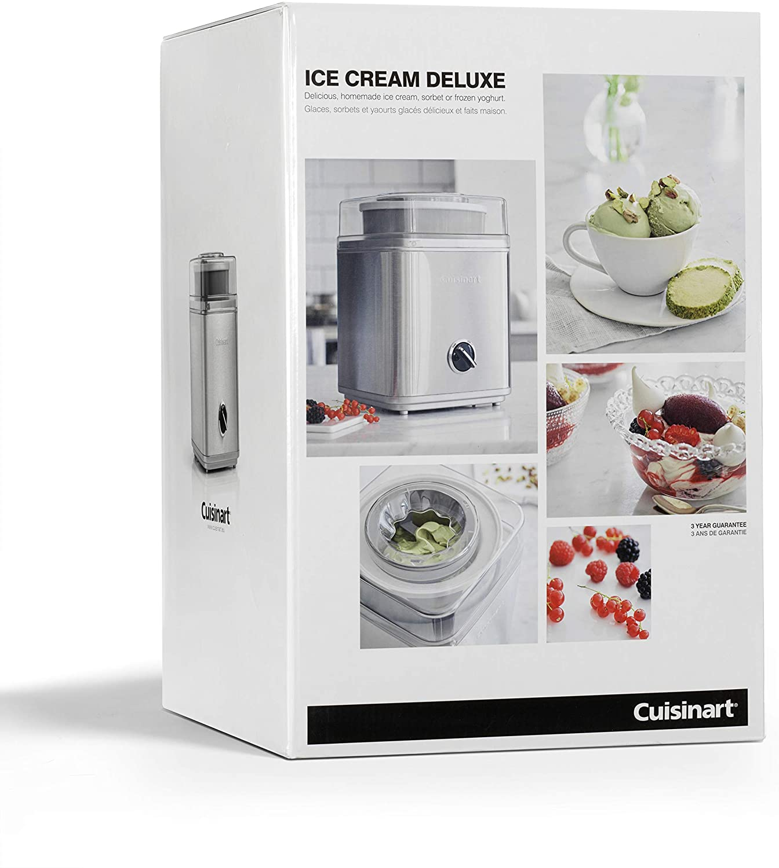 Cuisinart ICE30BCE Heladera 2 L, Helados cremosos, Sorbetes y ...