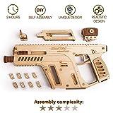 Wood Trick Assault Rifle Gun Wooden Model - Toy