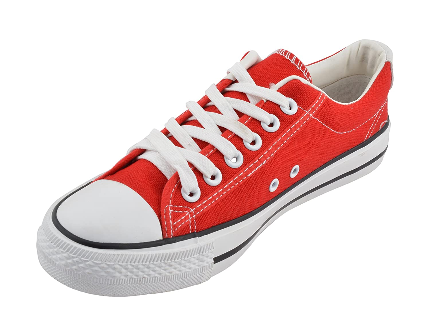 Cipramo Men's White and Red Sneakers