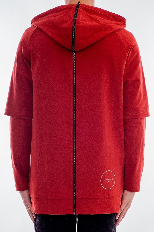 Vie Riche Mens Zipper Back French Terry Hoody Sweatshirt