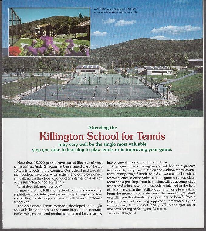 Killington School For Tennis brochure 1988 VT at Amazons Entertainment Collectibles Store
