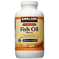 Kirkland Signature Omega-3 Fish Oil Concentrate, 800 Softgels, 1000 mg Fish Oil...