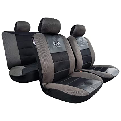 new airflow mesh embroidery car seat covers universal size for 4runner tacoma warm in winter 9pcs complete set 8 color options (black02)
