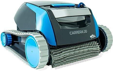 Dolphin Carrera 20 - Robot limpiafondos para piscinas (fondo y paredes): Amazon.es: Jardín