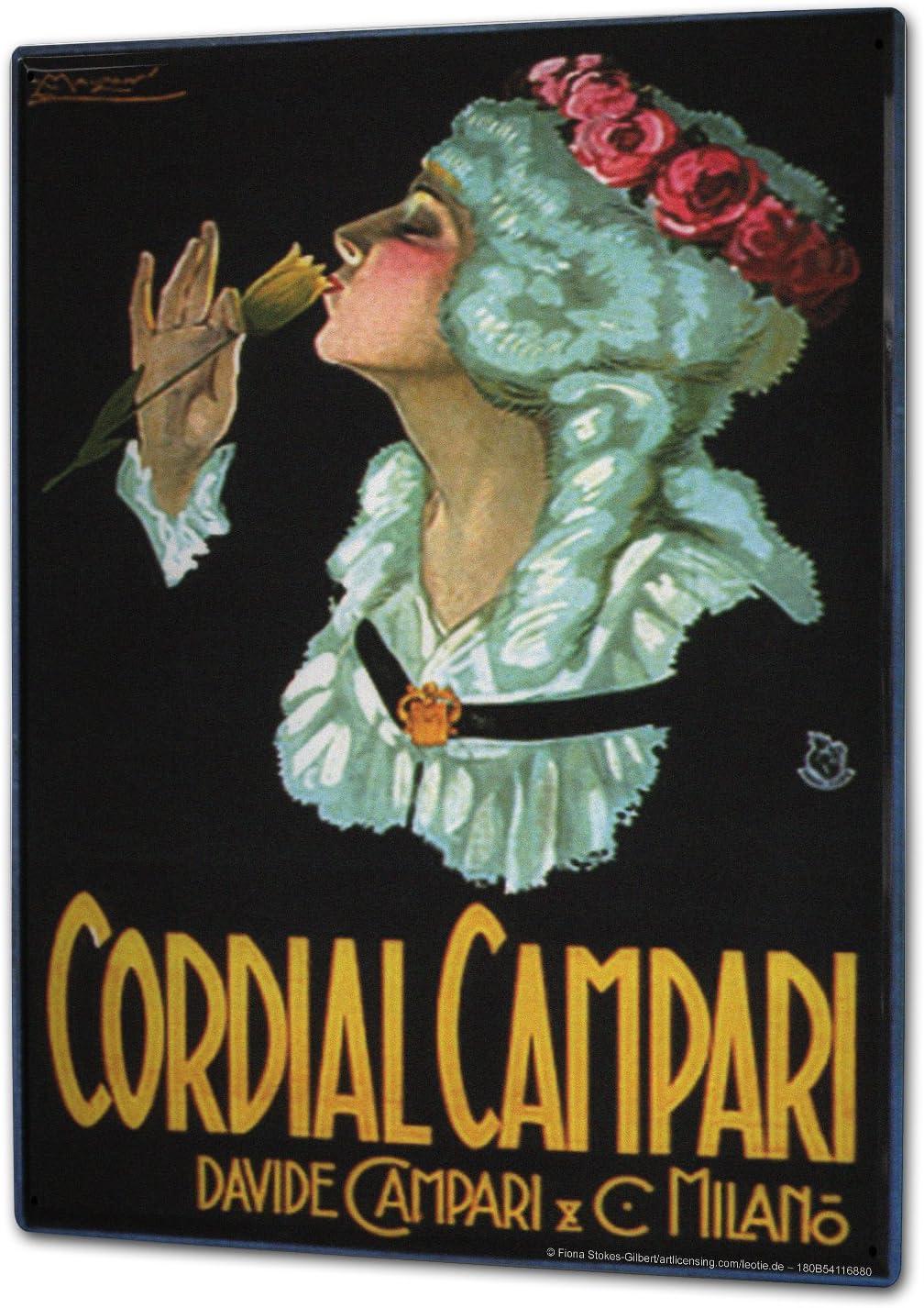 LEotiE SINCE 2004 Plaque en M/étal M/étallique Poster Mural tin Sign 40x30 cm Alcool Retro Campari Bar Pub Restaurant