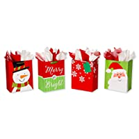 Deals on American Greetings Large Christmas Gift Bags w/Tissue Paper