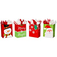 American Greetings Large Christmas Gift Bags w/Tissue Paper nd 20 Sheets of Tissue Paper