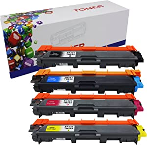 HIINK Comaptible Toner Cartridge Replacement for Brother TN221 TN225 Used in HL-3140CW HL-3170CDW MFC-9130CW MFC-9330CDW MFC-9340CDW (1 Black, 1 Cyan, 1 Yellow, 1 Magenta, 4-Pack)