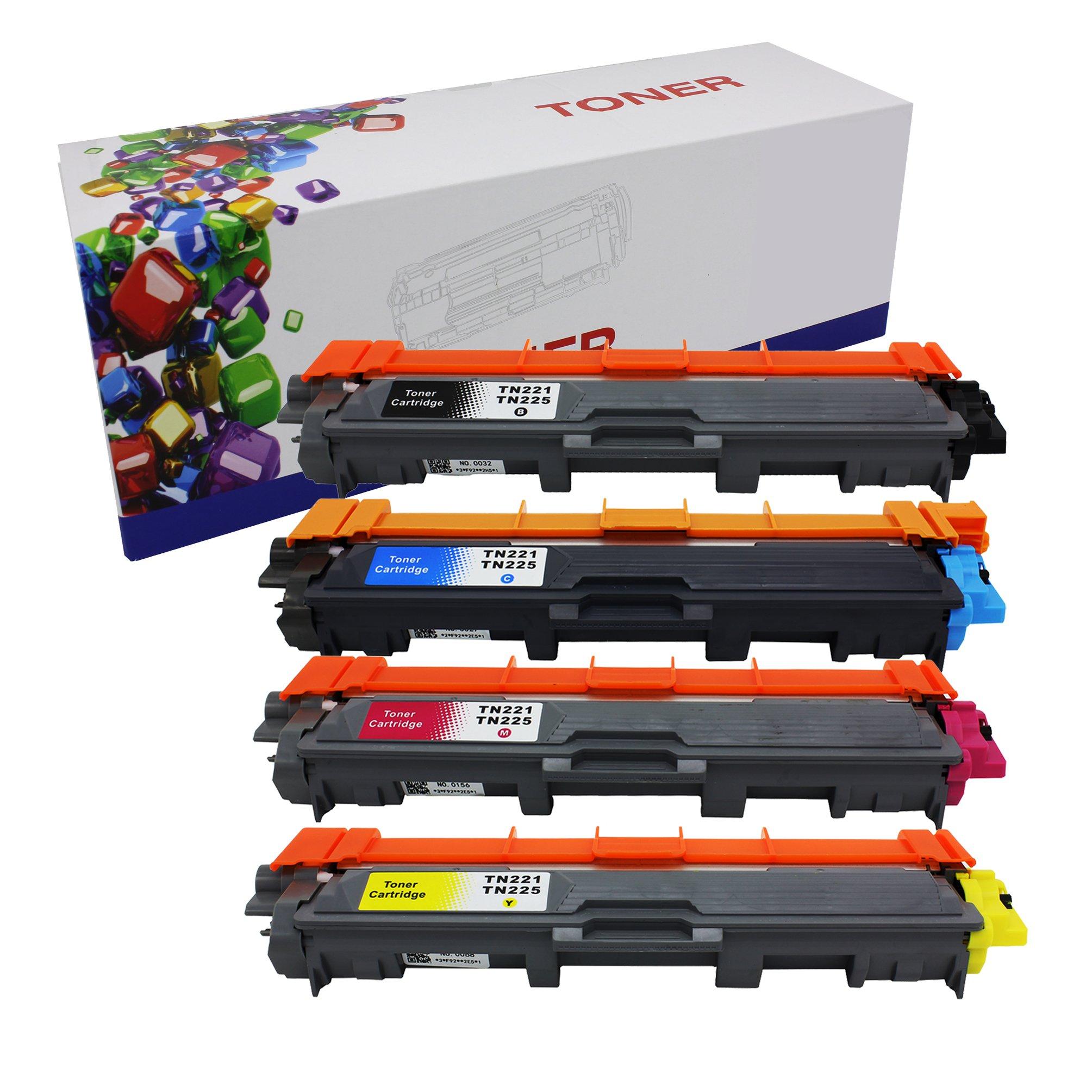 Toner Alternativo ( X4 ) 4 Colores TN221 TN225 Used HL-3140CW HL-3170CDW MFC-9130CW MFC-9330CDW MFC-9340CDW