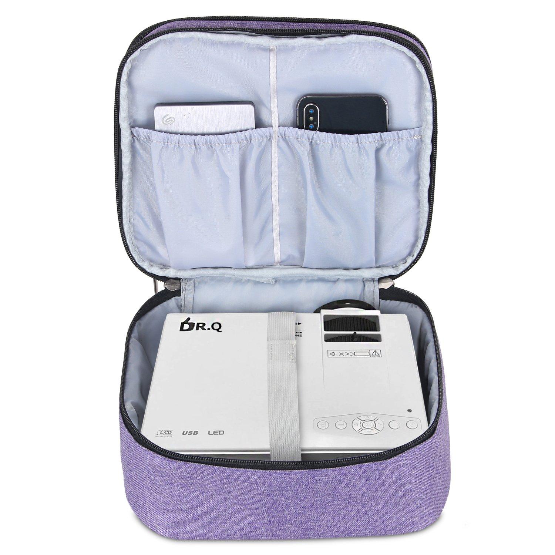 Nero Borsa per Videoproiettore Dr.Q Luxja Borsa per Proiettore QKK Custodia per Proiettore e Accessori