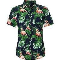 Loveternal Camisa Hawaiana Hombre 3D Estampada Funky Camisas Manga Corta Hawaii Shirt M-XXL