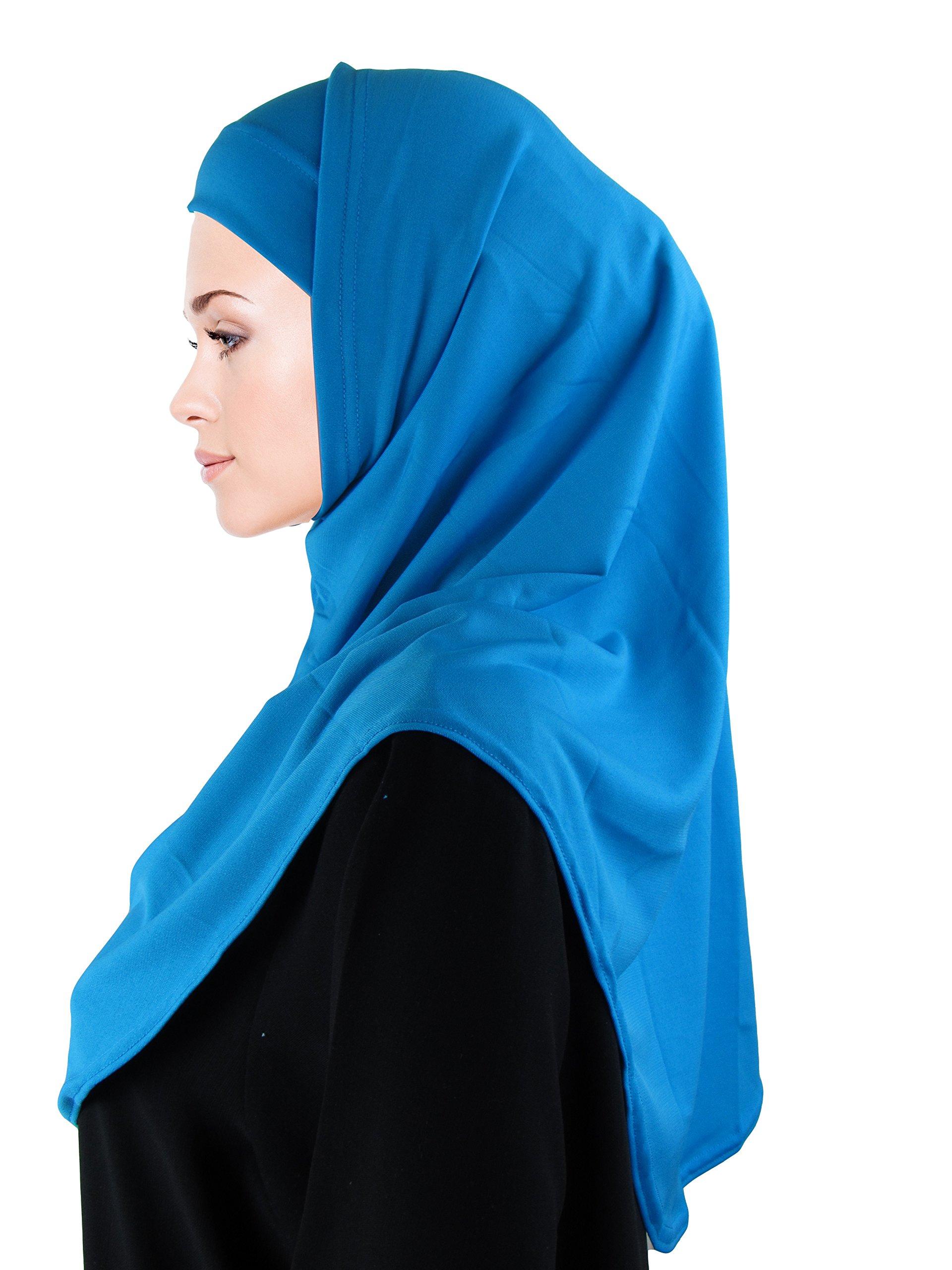 TheHijabStore Soft Polyester 2 Piece Al-Amira Princess Hijab-20 Colors
