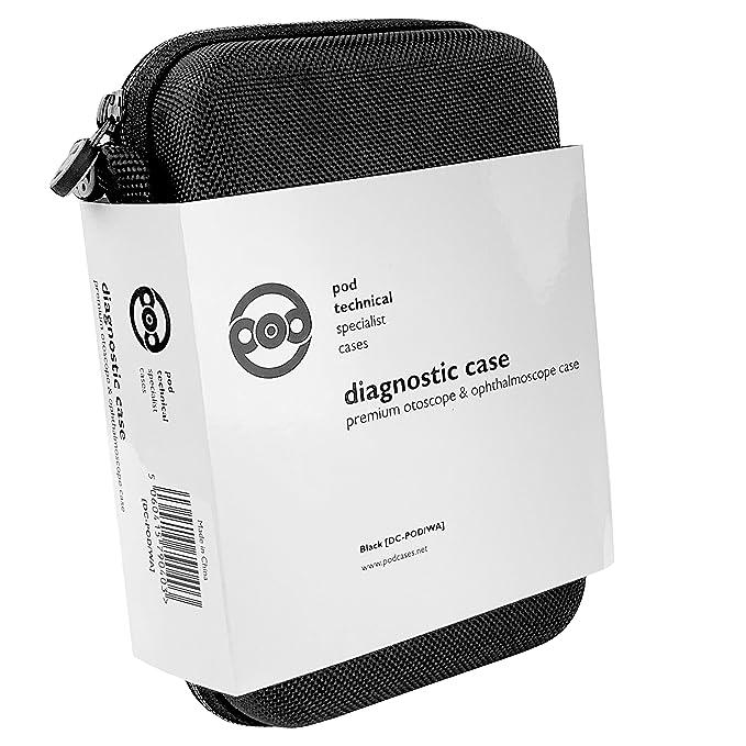 Funda de transporte dura premium para Otoscopio Welch Allyn y juegos de diagnóstico de oftalmoscopio