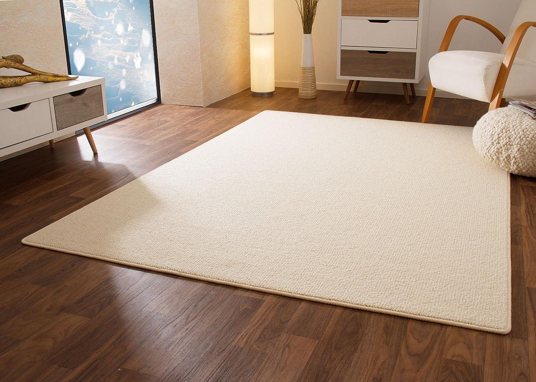 Designer Teppich Modern Berber Sydney in Weiß, Wollsiegel Qualität, Größe  300x400 cm