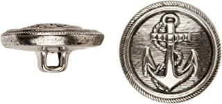product image for C&C Metal Products 5018 Anchor Metal Button, Size 30 Ligne, Antique Nickel, 36-Pack