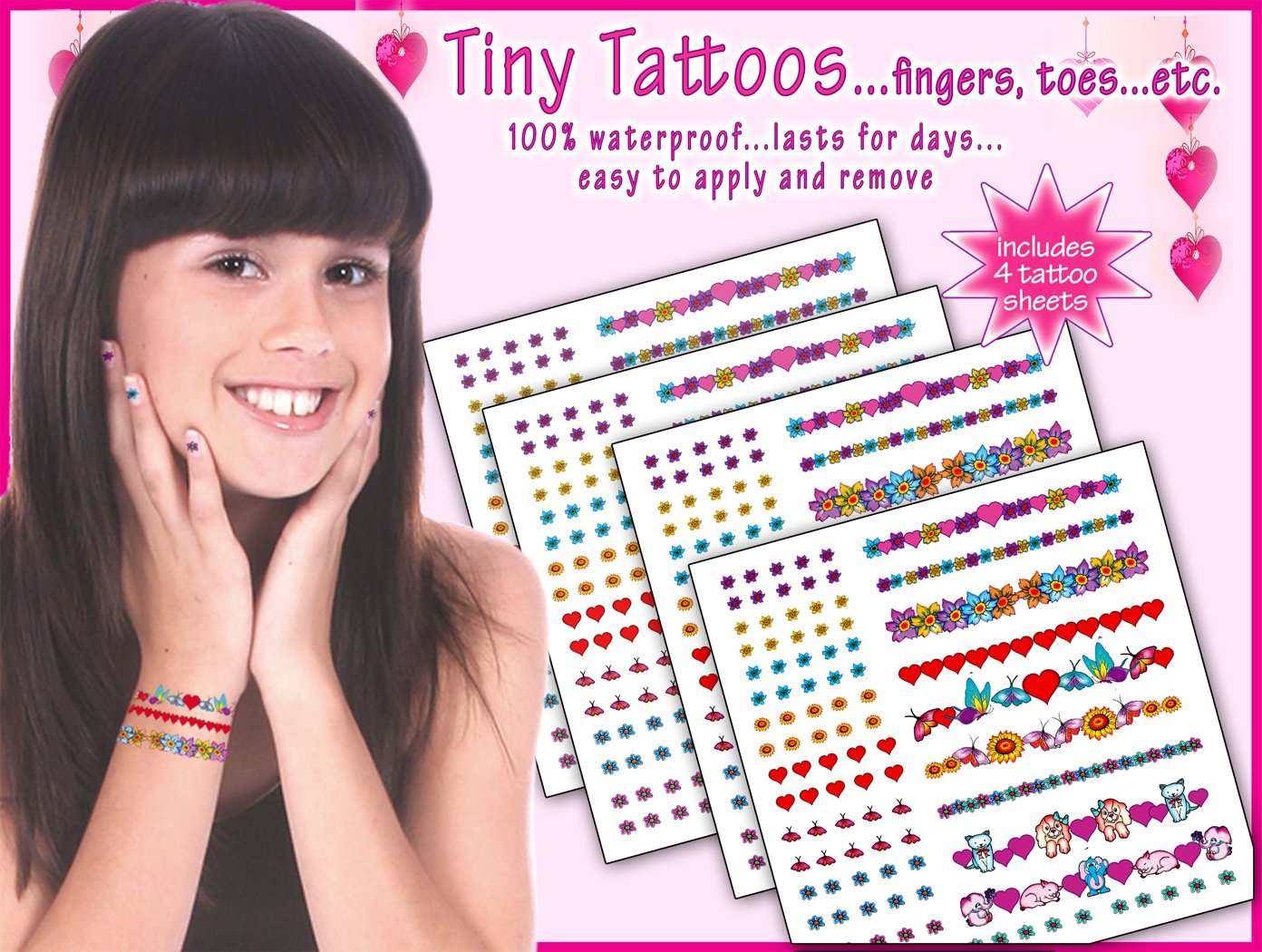 Toes,ears Tiny Tattoos....for Fingers Etc Temporary Tattoo Factory DPTT-1