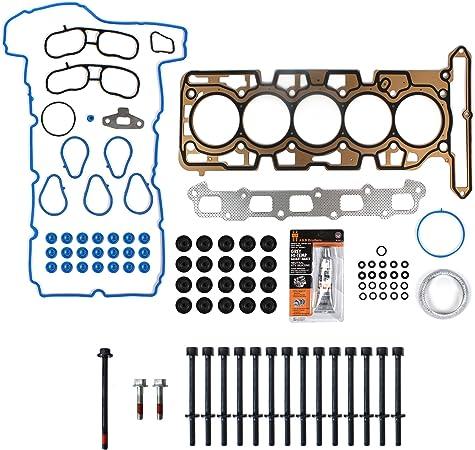 New TS2639000HB MLS Cylinder Head Gasket Set RTV Silicone for 2007-12 GM 3.7L 223 L5 Head Bolt Kit