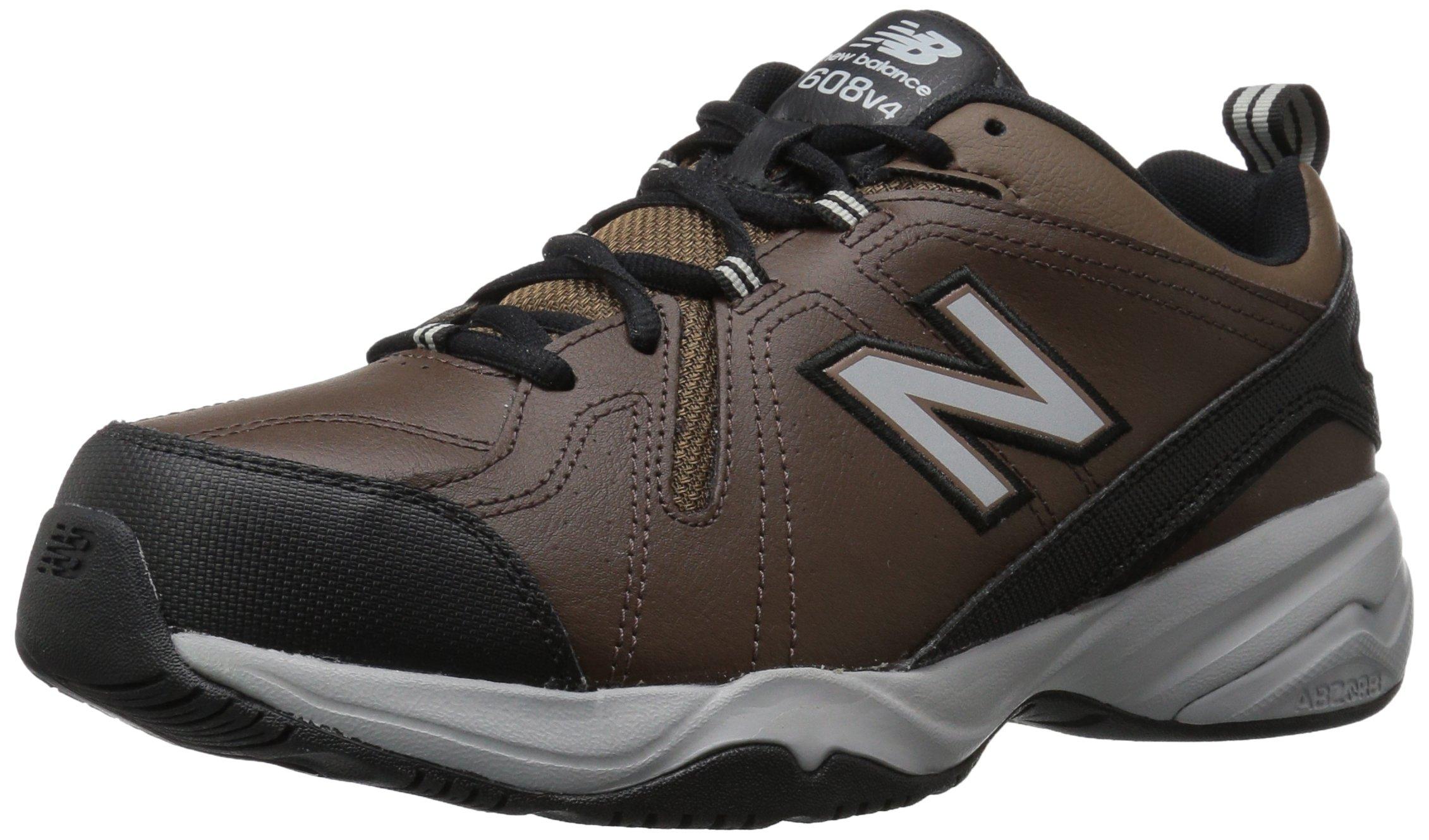 New Balance Men's MX608v4 Training Shoe, Chocolate Brown, 7.5 4E US