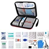 Qusoul Emergency First Aid Kit - Waterproof Compact Survival Kit, for Home, Office, Car, School, Workplace, Camping, Travel and Any Outdoor Activities