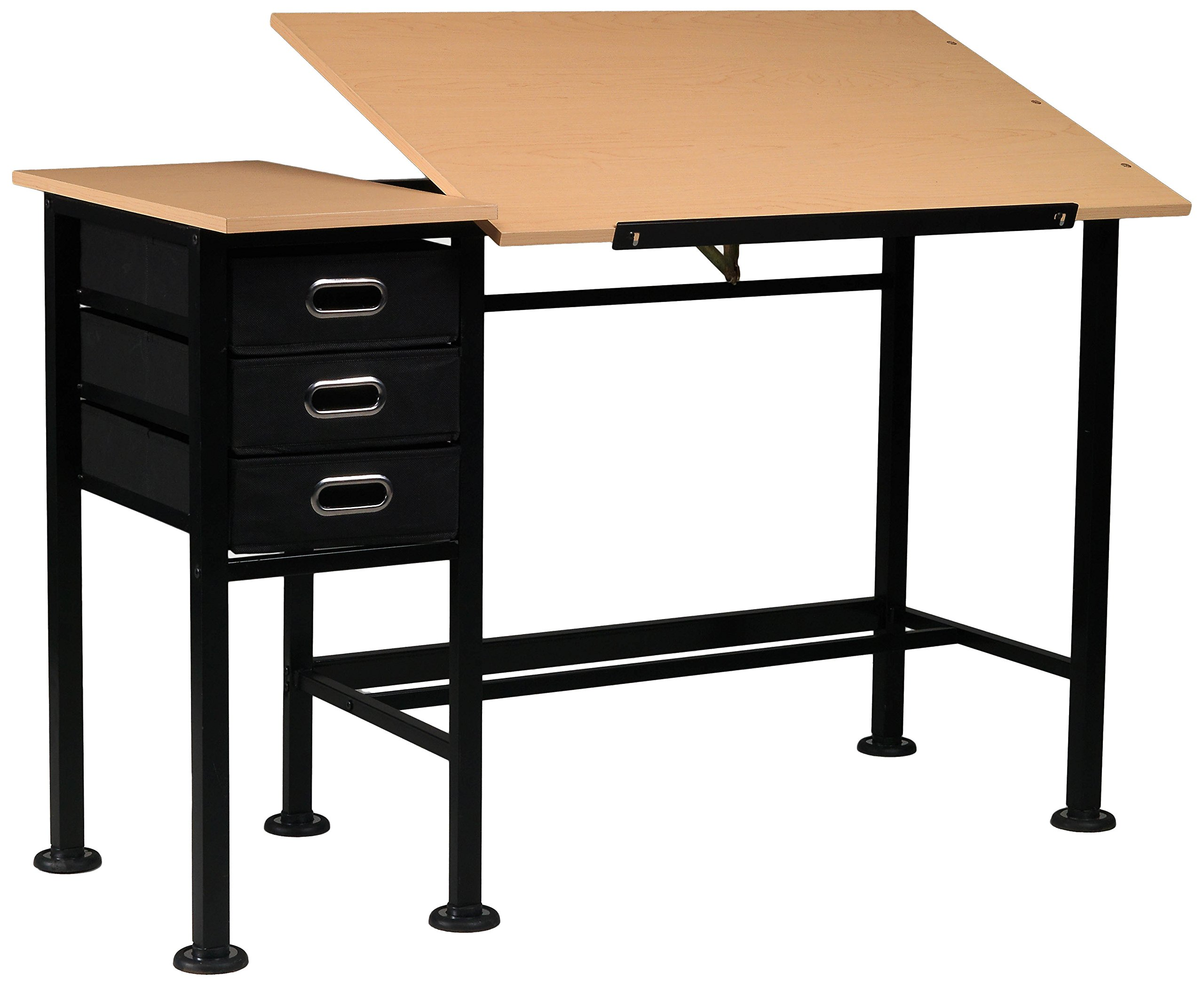 Martin Universal Design U-DS1950B Dorchester Split Top Craft Table, Black by Martin Universal Design