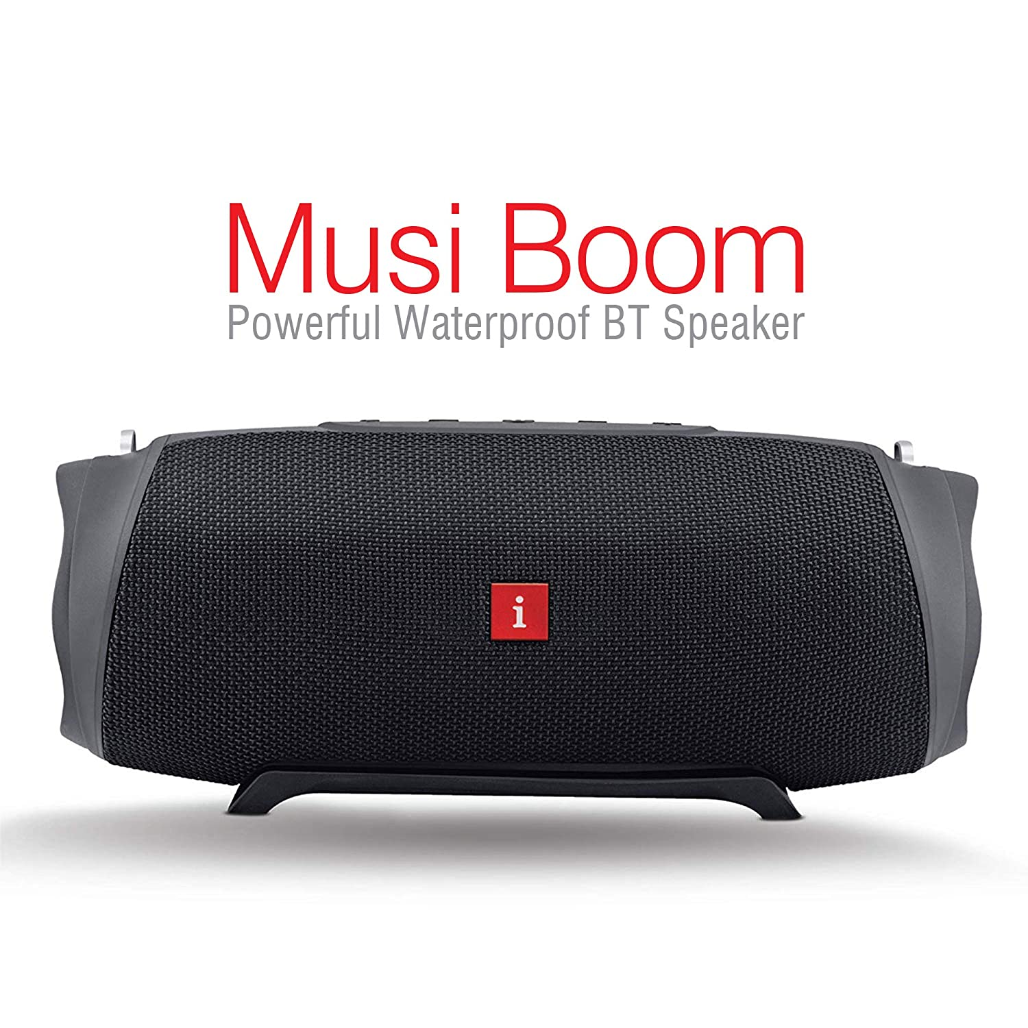 iBall Musi Boom IPX7 Waterproof with Built-in Powerbank Portable Bluetooth Party Speaker (Black)