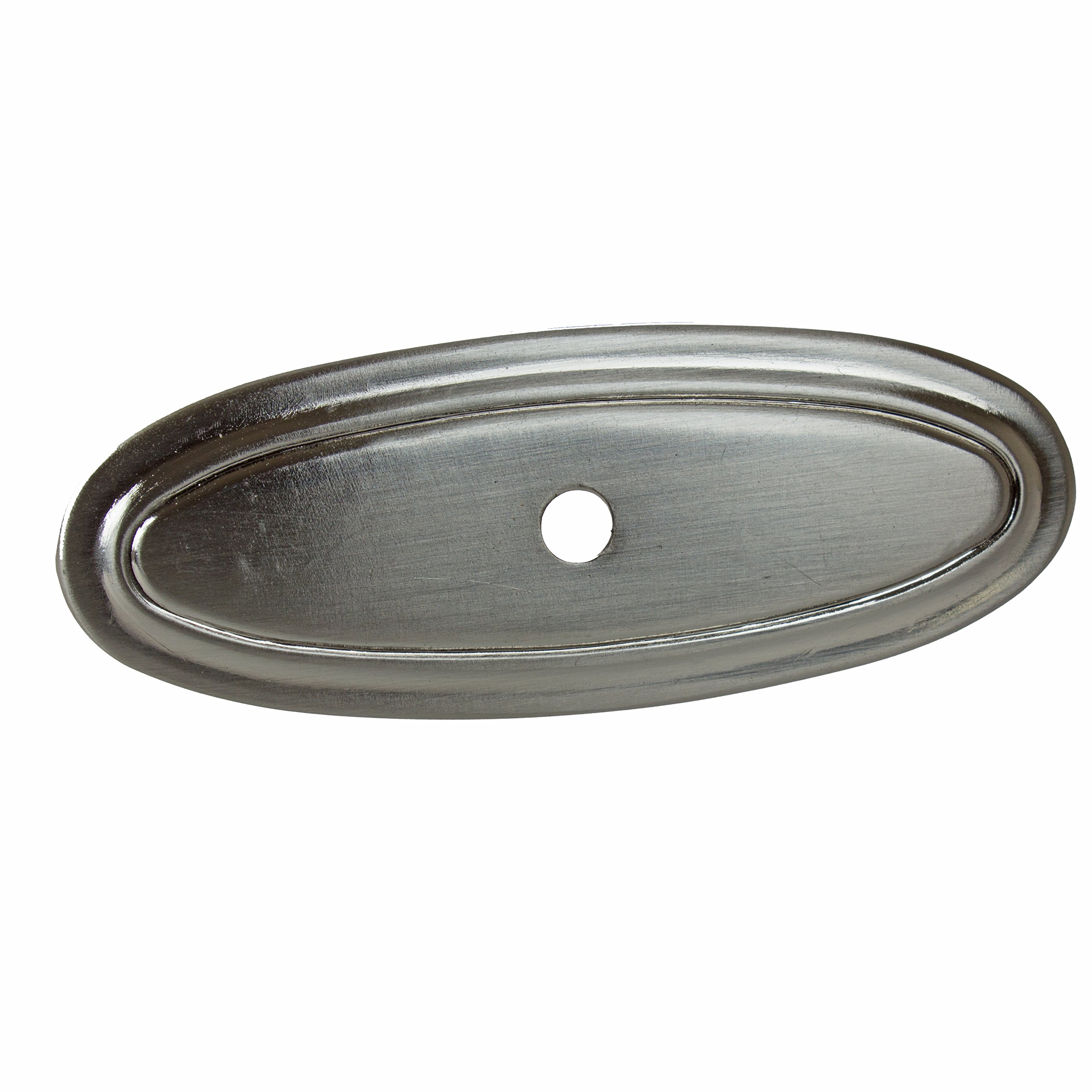 GlideRite Hardware 3 inch Long 1034-SN-25 Thin Oblong Ring Cabinet Back Plate, 25 Pack, 3'', Satin Nickel, Finish
