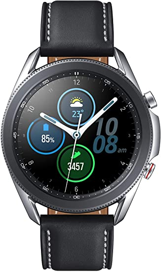 Samsung Galaxy Watch 3 (41mm, GPS, Bluetooth, Unlocked LTE) Smart Watch with Advanced Health Monitoring, Fitness Tracking , and Long lasting Battery - Mystic Silver (US Version) best chinese smartwatches