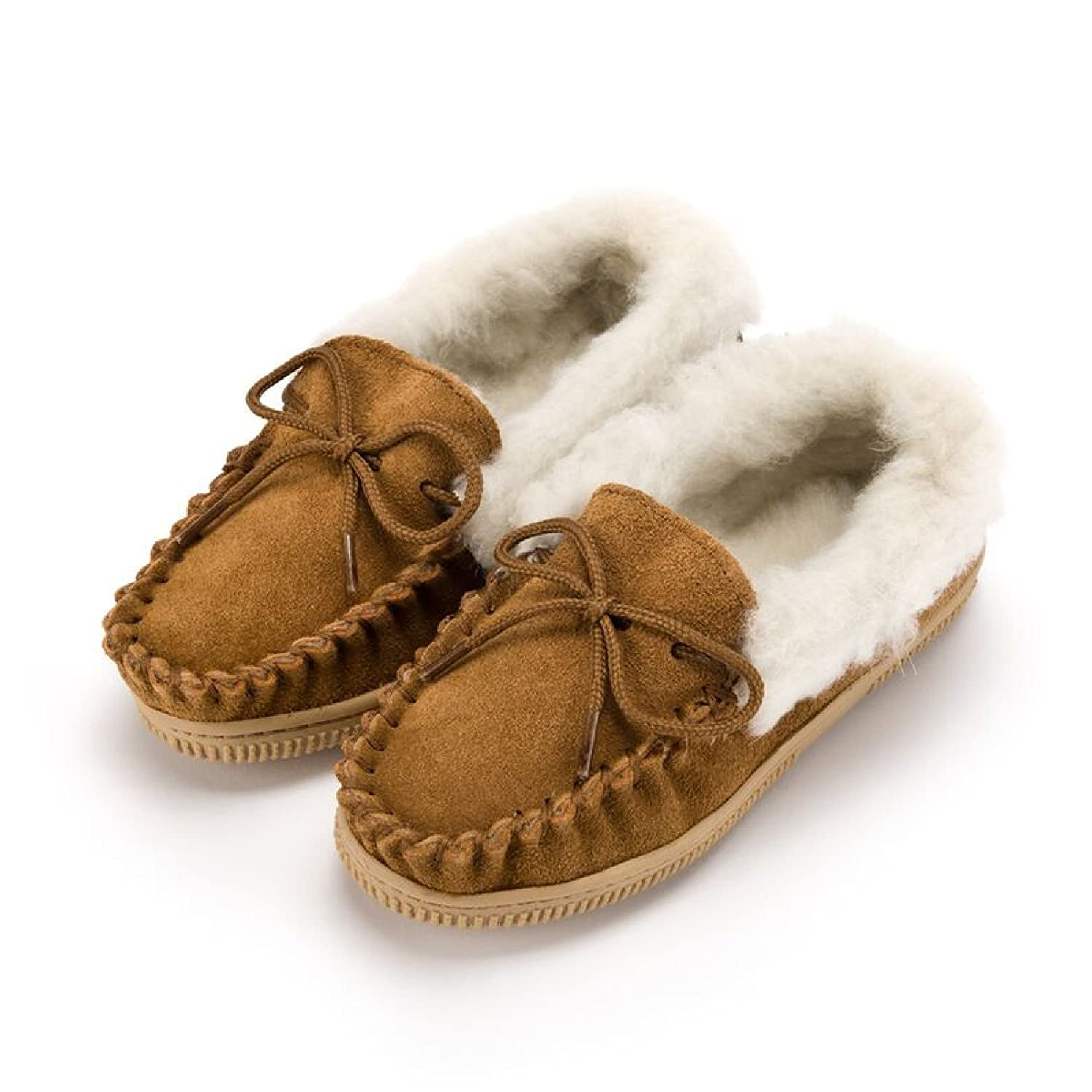 3138bcbe3 Amazon.com | Eastern Counties Leather Childrens/Kids Wool-Blend Lined  Moccasin Slippers | Slippers