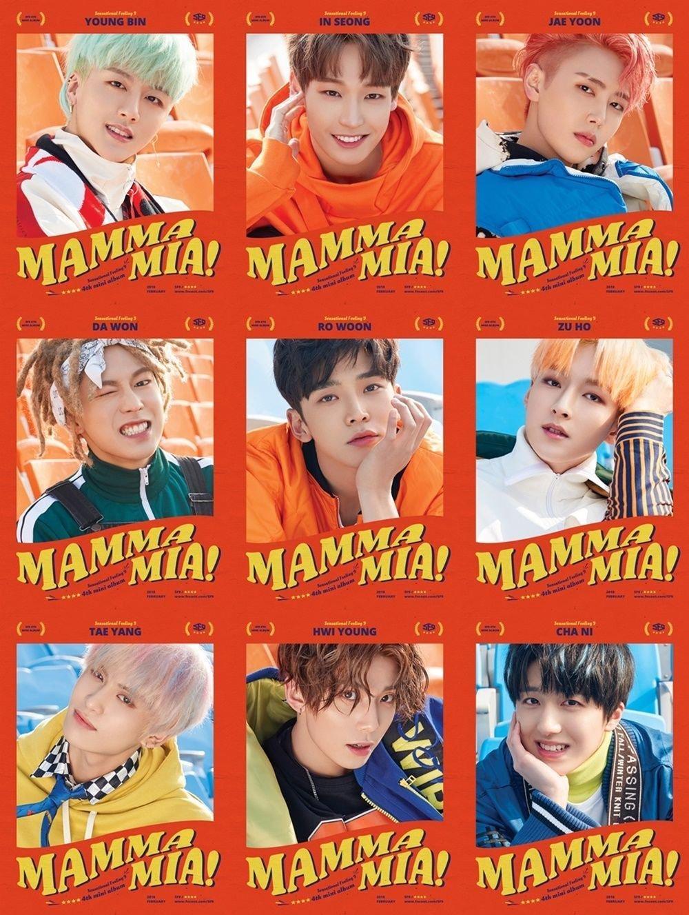 SF9 [MAMMA MIA!] 4th Mini Album CD+Photobook+Cover+Ticketcard+Card+Tracking Number SEALED