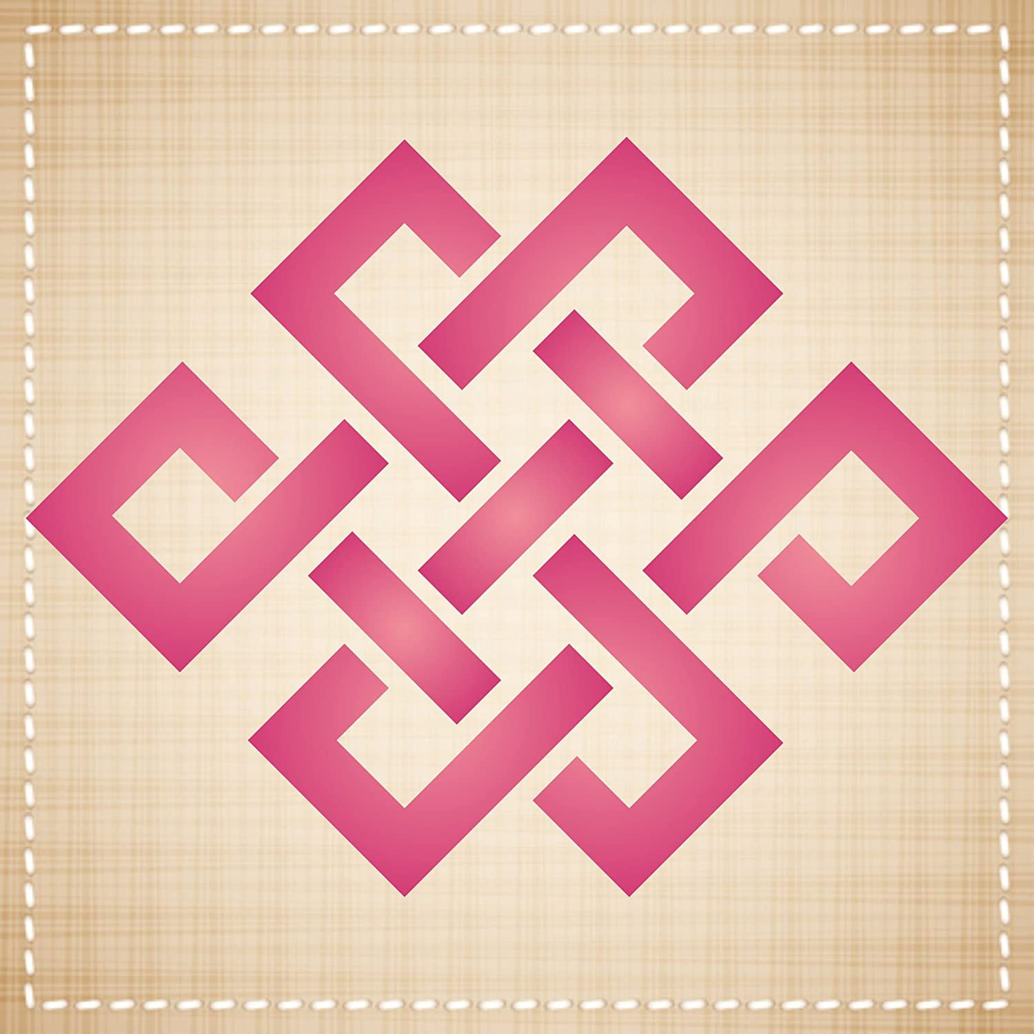 Endless Knot Stencil Glass Walls Floors Size: 3.25w x 3.25h Best Quality Taoist Asian Symbols Reusable Stencils for Painting Use for Scrapbooking Wood Fabrics Cards and More/…