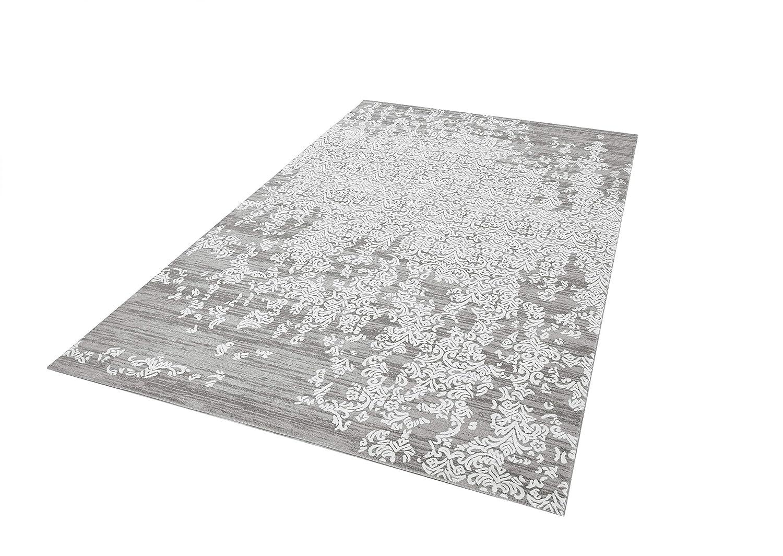 Kurzflor Teppich I Wohnzimmerteppich Esszimmerteppich Bettumrandung Vorleger Teppichläufer Flur-Läufer Bettvorleger I Hochwertig, Größe 160x230, Form Rechteckig, Farbe Grau