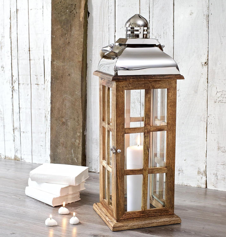 Candle Lantern Wood Extra Tall - Decorative Garden Wedding - Indoor Outdoor - 70 cm H Za Za Homes