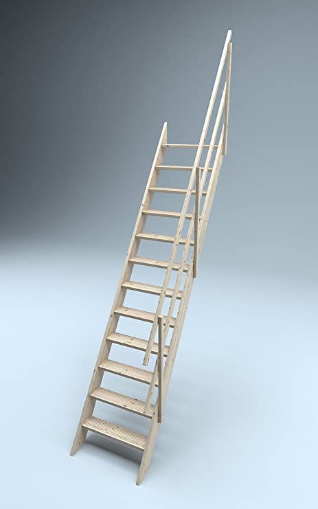 Sunlux Oxford 70 Wooden Staircase Kit Loft Stairs/ladder 700 Mm Width +  Anti