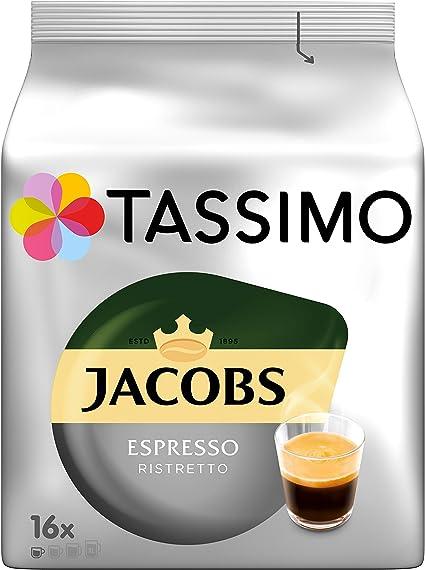 Tassimo T-Discs Jacobs Espresso Ristretto 5 x 16 T-Discs Rainforest Alliance