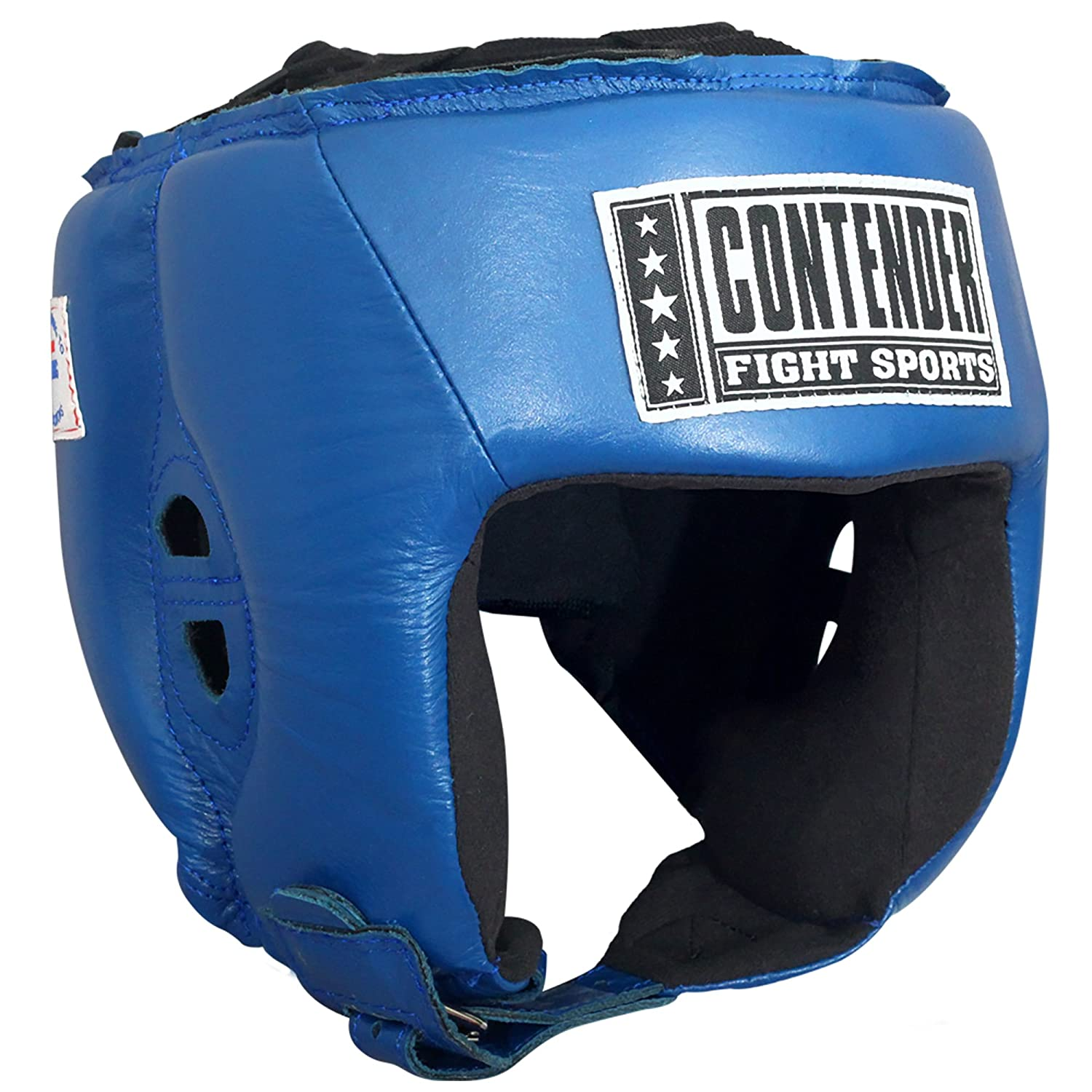 Contender Fight Sports CompetitionボクシングムエタイMMAスパーリングヘッド保護Headgear without Cheeks Small ブルー B00YU1P0Y6