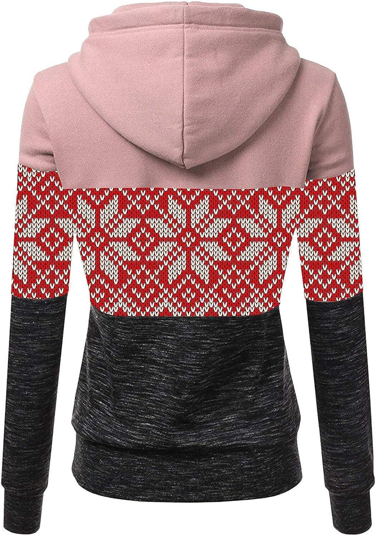 Damen Kapuzenpullover Lang Hoodie, Sweatshirt Frauen Stehkragen Pullover mit Kapuze Herbst Winter Mantel Slim Fit Hoody High Neck Outwear #06