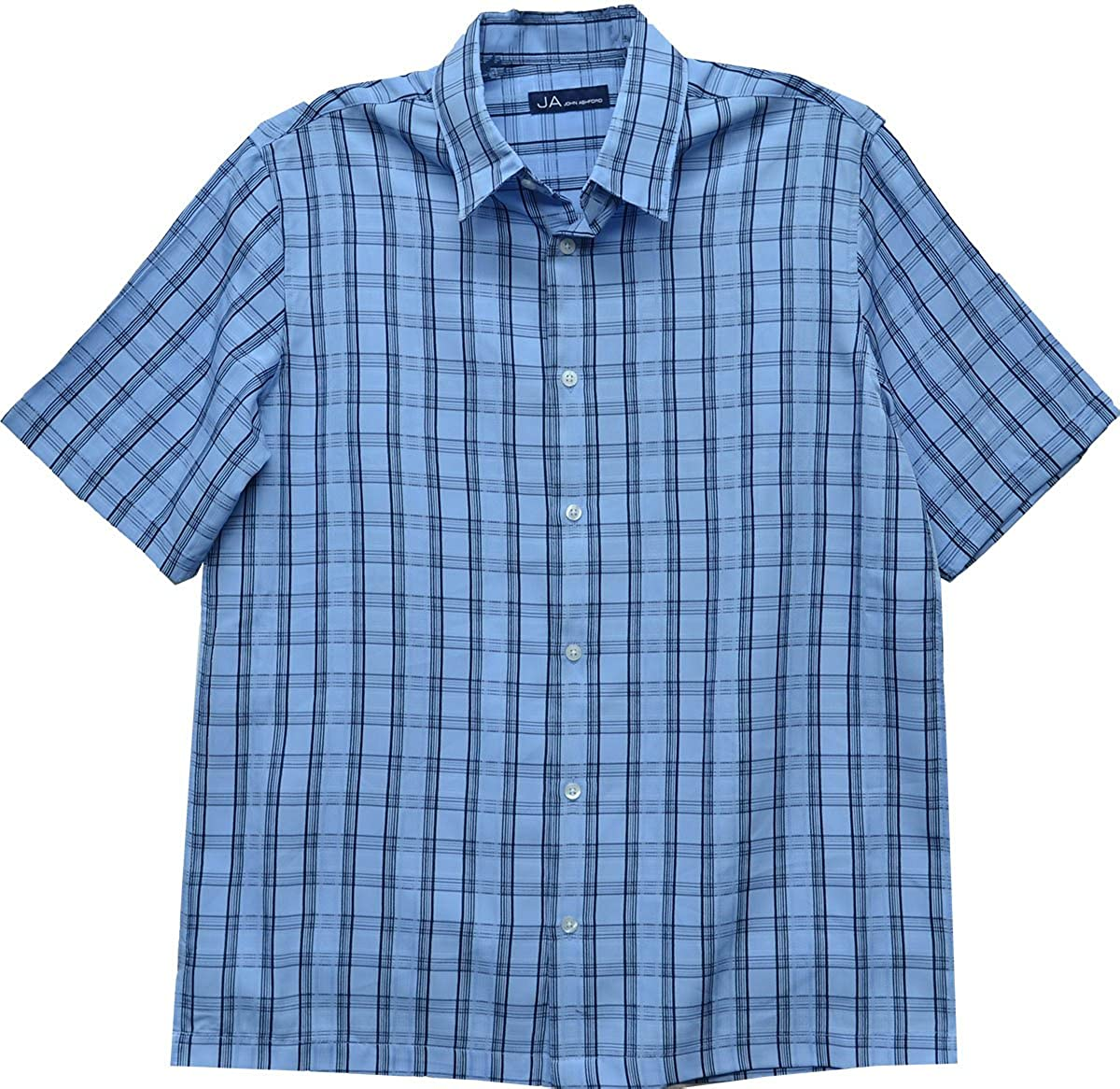 43bfaa8274 John Ashford Men's Short Sleeve Shirt, Classic Fit Lupine Blue ...