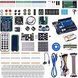 kuman K4-US para Proyecto Arduino Kit de Inicio Completo con Tutorial detallado y componentes fiables para UNO R3 Mega…