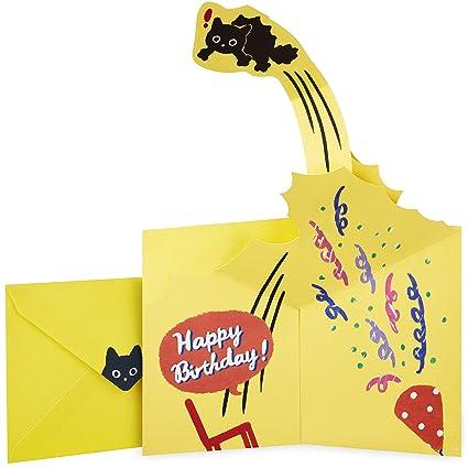 Amazon Hallmark Pop Up Birthday Card Surprised Cat Office Products