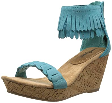 5 Aqua Sandal Minnetonka Nicki Women's Wedge xwTTXInCPq