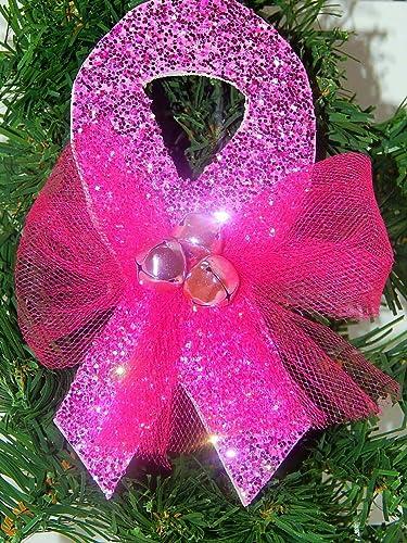Breast Cancer Awareness Pink Ribbon Christmas Ornament - Amazon.com: Breast Cancer Awareness Pink Ribbon Christmas Ornament