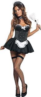 Starline Seductive Sexy Maid Costume Set  sc 1 st  Amazon.com & Amazon.com : Sexy Roma Halloween Adult Pink French Maid Costume ...