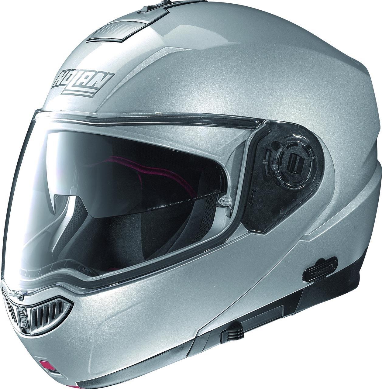 Nolan N104 Evo Solid Helmet (Platinum Silver, Large)