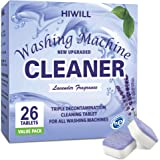 HIWILL Washing Machine Cleaner Effervescent Tablets, Solid Washer Deep Cleaning Tablet, Triple Decontamination Remover…